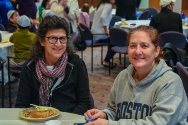 Cheryl Lester and Sharon Friedman at Mitzvah Day 2014